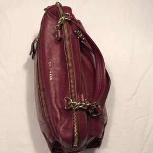 COLE HAAN Burgundy Leather Bag